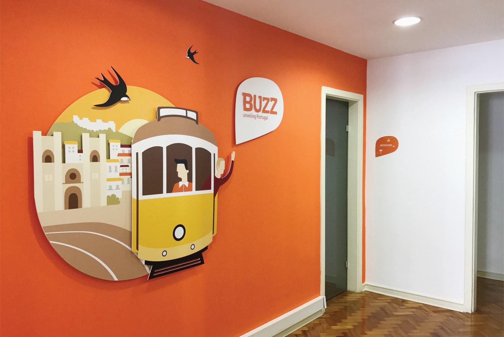 projeto de branding para a marca portuguesa Buzz