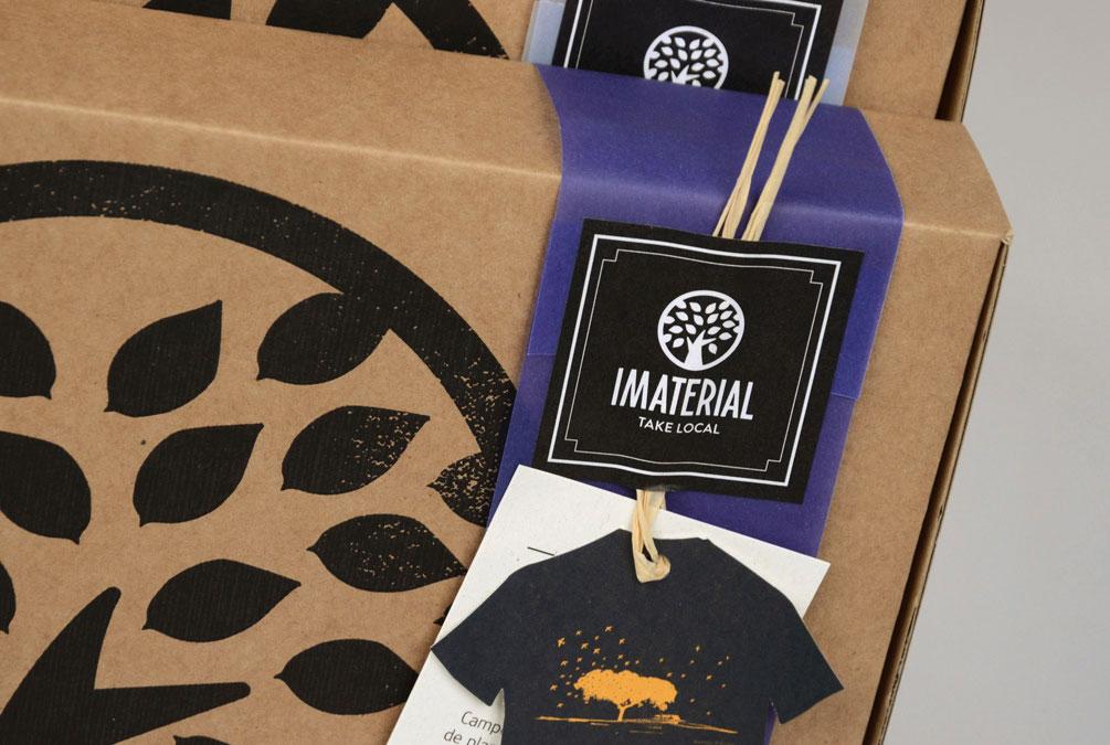 design da marca imaterial criado pela agência brandimage