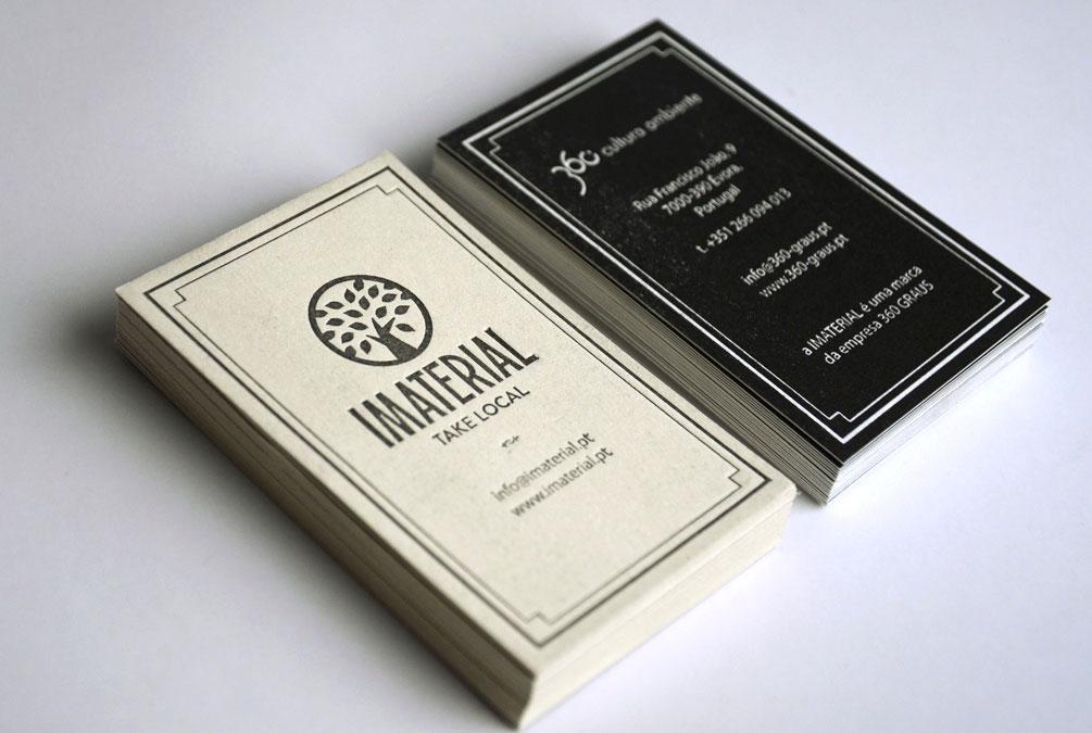 cartões de visita da marca imaterial criados pela agência de branding brandimage