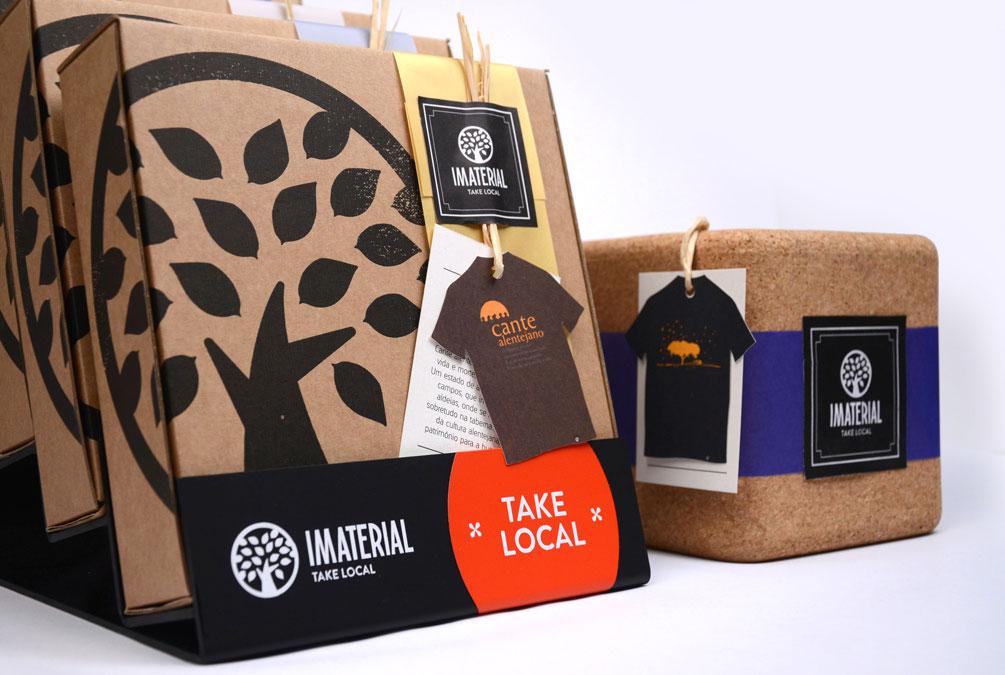 packaging da marca imaterial